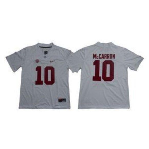 Alabama Crimson Tide AJ McCarron White Jersey